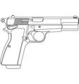 Wireframe gun pistol