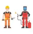 Workers man set vector image vector image