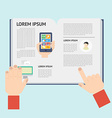 Element of newspaper in flat design vector image