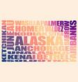 alaska state cities vector image