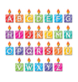 alphabet candles vector image vector image