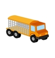 animal transport truck icon graphic vector image
