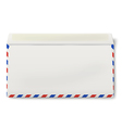 Backside of opened DL air mail envelope inside vector image vector image