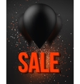 Balloon Sale Poster with Explosion Effect Big vector image vector image