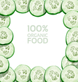 Beautiful frame from slices of fresh cucumber vector image vector image