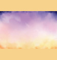 beautiful twilight sky watercolor background vector image