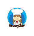 beauty chef vector image vector image