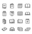 books paper printed literature for reading and vector image