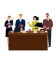 business meeting man and woman negotiations vector image vector image