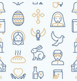 christianity seamless pattern vector image