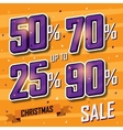 Christmas sale banner sales discount vector image