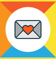 close envelope icon colored line symbol premium vector image