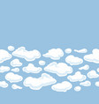 clouds background seamless pattern for your vector image vector image