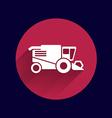Combine harvester icon button logo symbol concept vector image vector image