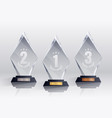 competition trophies realistic set vector image