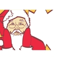 cool Santa Claus in pop art style for any vector image vector image