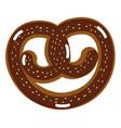 delicious bakery pretzel bread vector image vector image