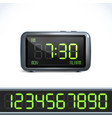 Digital alarm clock numbers vector image
