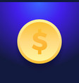 Dollar money coin icon flat dollar money coin