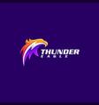 eagle thunder logo design vector image vector image