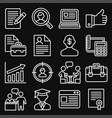 employment and job resume icons set on black vector image vector image