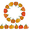 endless brush and circle frame of cute halloween vector image vector image