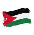 flag of jordan grunge abstract brush stroke vector image vector image