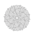 Graphic Mandala with many decorative petals vector image vector image