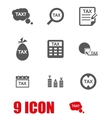 grey tax icon set vector image vector image