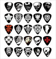 guitar skull pick set vector image
