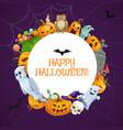 happy halloween horror night holiday monsters vector image