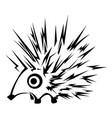 hedgehog stencil vector image