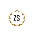 initial letter zs elegance creative logo vector image vector image