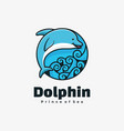 logo dolphin simple mascot style vector image