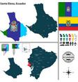 map of santa elena ecuador vector image vector image