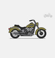military vintage motorcycle vector image vector image