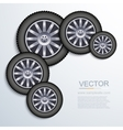 modern wheels background vector image