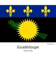 National flag of Guadeloupe with correct vector image