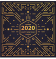 new year 2020 geometric card banner vector image vector image