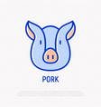 pig thin line icon modern vector image