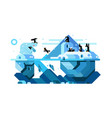 polar bear and arctic cute penguins vector image vector image