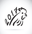 Rooster 2017 new year card year vector image