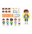 school boy character generator vector image