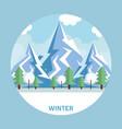 seasonal weather landscape icon vector image vector image