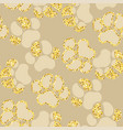 semless golden sparkle pattern with dogs theme vector image