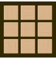 Set of Blank Wood Box vector image vector image