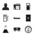 shop gasoline icons set simple style vector image
