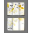 Tri-fold brochure in orange color vector image vector image
