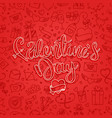 valintaines day greeting card templalate vector image vector image