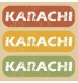 Vintage Karachi stamp set vector image vector image